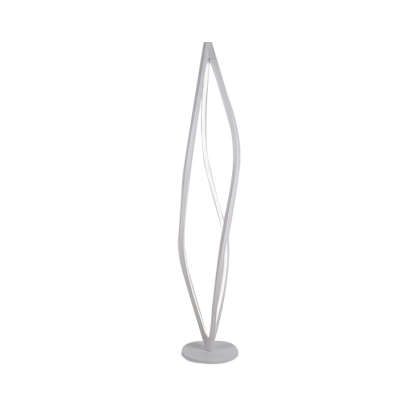 Acrylic Geometry Frame Floor Lighting Modernism LED Standing Floor Lamp in White/Black