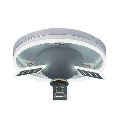 Grey Finish Satellite Shaped Ceiling Flush Nordic Style LED Acrylic Flush Mount Fixture