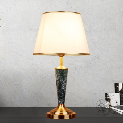 Gold Single Nightstand Light Traditional Fabric Scalloped Empire Shade Table Lamp Beautifulhalo Com