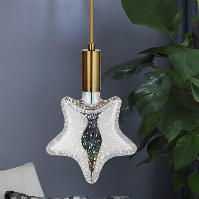 1pc E27 Silver Pentacle Light Bulb 4 Watts 12 Beads 3D Firework Patterned Plastic LED Lighting