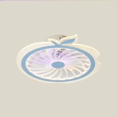 Apple Semi Mount Lighting Cartoon Metallic Pink/Blue 20