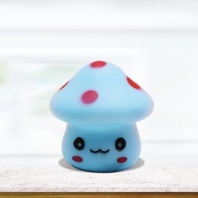 Mushroom Mini Wall Night Light Cartoon Plastic White/Red/Blue LED Plug-in Nightlight for Kindergarten