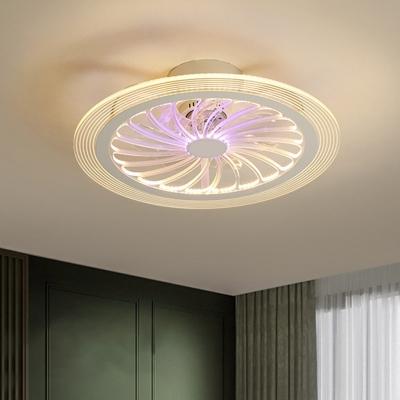 Orange Bedroom Semi Flush Mount Light Metallic 20