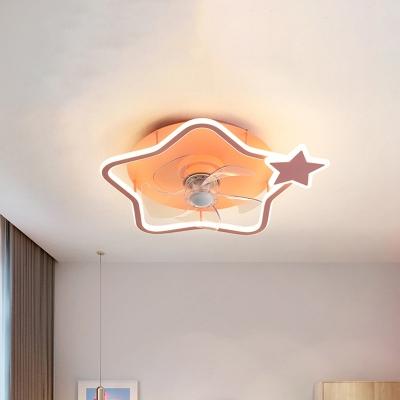 Metal Star/Round Hanging Fan Light Cartoon 18