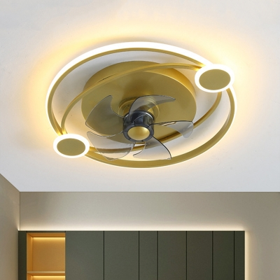 Oval and Round Semi Mount Contemporary Metallic 19.5