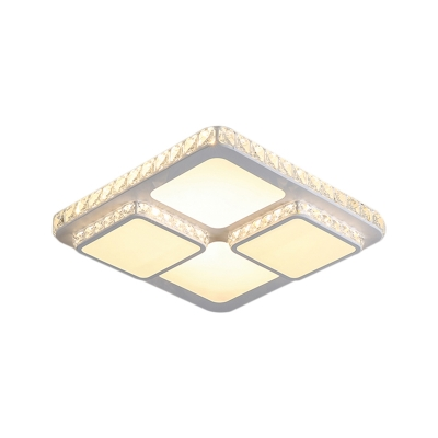 White Squared Ceiling Lighting Contemporary 16