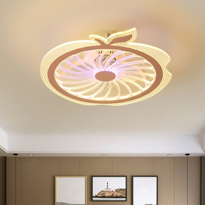 Apple Semi Mount Lighting Cartoon Metallic Pink/Blue 20