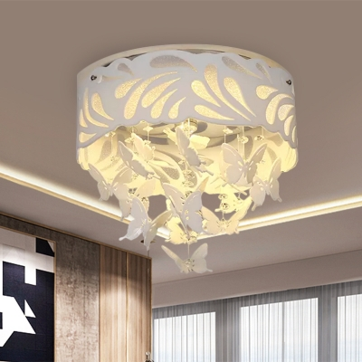 Cutouts Leaf Corridor Ceiling Flush Modern Acrylic White LED Flush Mounted Light with Dangling Crystal, Cutouts Leaf Corridor Ceiling Flush Modern Acrylic White 8/12-Light/LED Flush Mounted Light with Dangling Crystal, 12.5