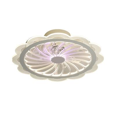 Metal Flower Pendant Fan Light Modern 20