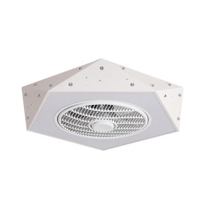 Macaron Pentagon Fan Flush Lighting Metal 21.5