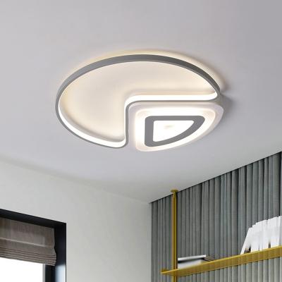Circle Ceiling Lighting Minimalist Acrylic 18