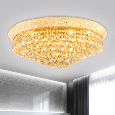 Crystal Orbs Tapered Flushmount Lighting Modern 6/9 Heads 16