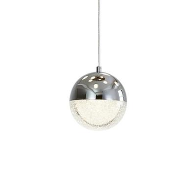 Global Pendulum Light Modernity Metallic 1 Light Dining Room Suspension Lamp in Chrome/Gold