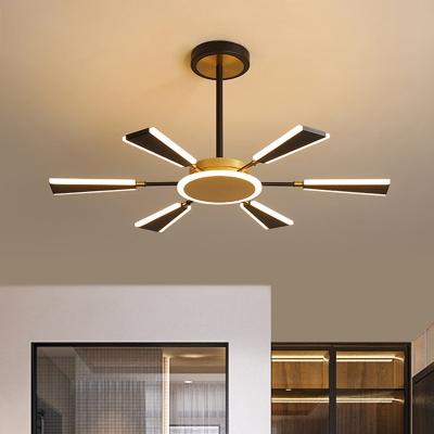 Paddle-Like Metal Pendant Lamp Modernist 31.5