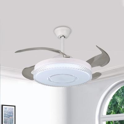 Acrylic Round Fan Light Ceiling Fixture Simple 19