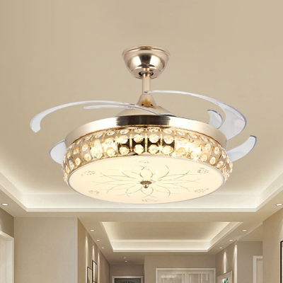 Gold Round Fan Lighting Simple 19