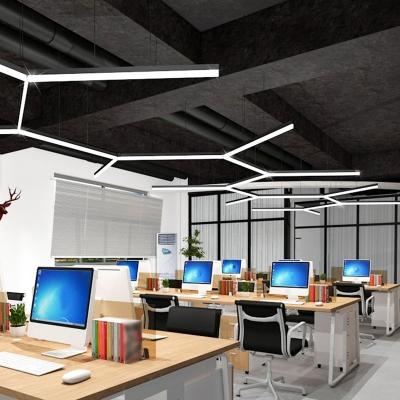 Slim LED Suspended Lighting Fixture Minimal Acrylic Black Hanging Pendant in Warm/White Light, 23.5