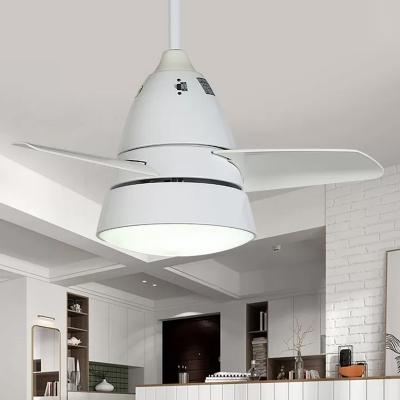 3 Blades Cone Shaped Hanging Fan Lamp Metal 28