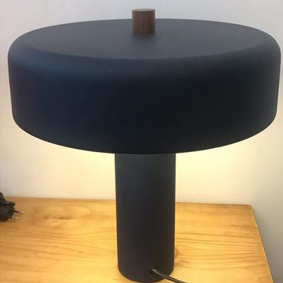 Metal Mushroom Night Lamp Minimalistic 2 Bulbs White/Blue/Copper Finish Table Light for Bedroom