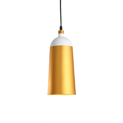 Post-Modern Bell/Bowl Drop Pendant Metal 1 Bulb 6