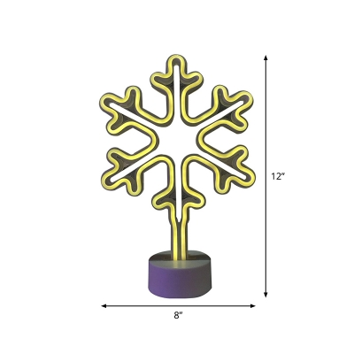 Snowman/Snowflake/Angel Battery Night Light Kids Style Plastic White LED Nightstand Lamp for Decoration