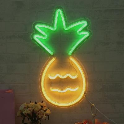 Pineapple Plastic Mini Night Lamp Kids White LED Wall Night Lighting with USB Cord
