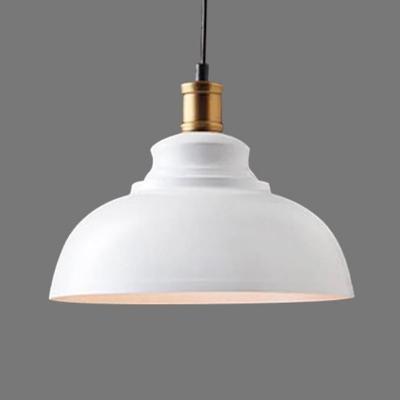 Iron Dome Suspension Lighting Retro Style 1 Head Restaurant Pendant Ceiling Light