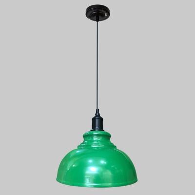 Pot Cover Metallic Suspension Lighting Retro Style 1 Head Restaurant Pendant Ceiling Light