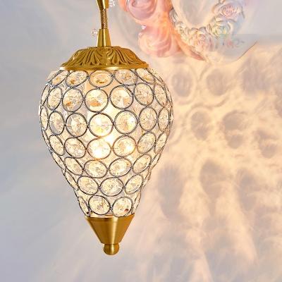 Resin Unicorn Wall Sconce Light Cartoon 1 Bulb Wall Lighting with K9 Crystal Shade