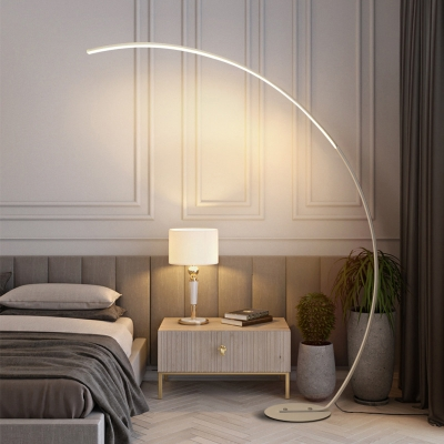 Arc LED Floor Standing Lamp Minimalist Acrylic Living Room Floor Light with Foot Switch