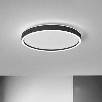 Circle Bedroom Flush Mount Ceiling Light Aluminum Modern LED Flush Light Fixture