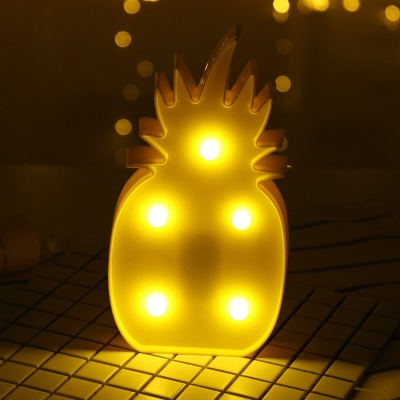 Battery Small Wall Night Lamp Cartoon Plastic Kids Room LED Table Lighting Ideas