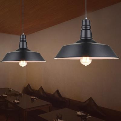 Simplicity Pot Lid Hanging Lamp Single-Bulb Metal Lighting Pendant for Restaurant