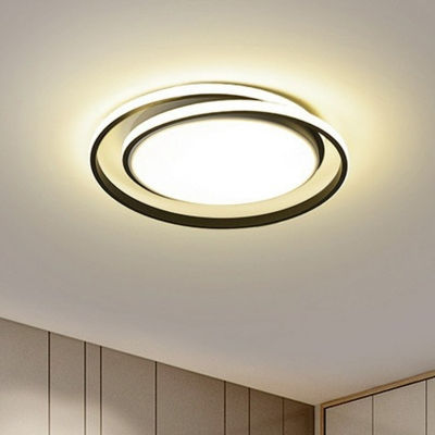Cycle LED Ceiling Mount Light Fixture Simplicity Metal Flush-Mount Light for Bedroom