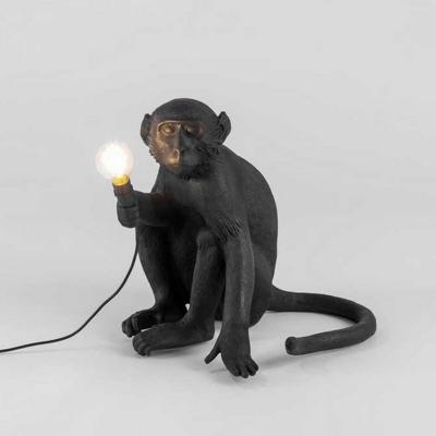 Monkey Night Table Light Decorative Resin 1-Bulb Childrens Room Nightstand Light