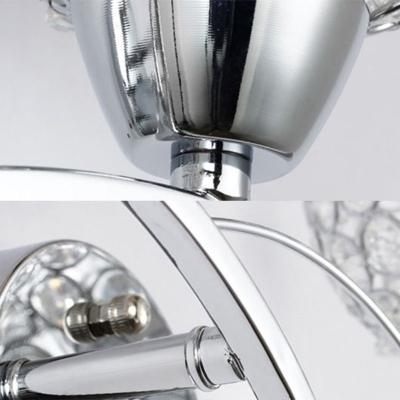 Modern Mini Globe Wall Light Fixture Crystal Single-Bulb Bedroom Wall Light Sconce
