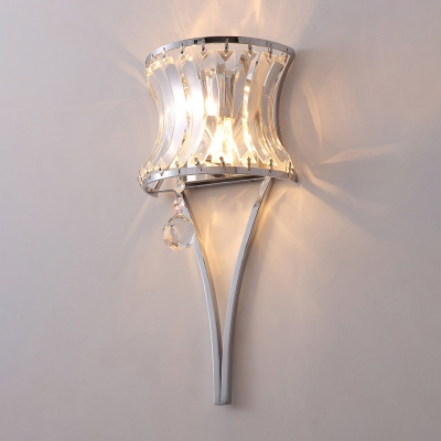 Curve Crystal Wall Mount Lighting Mid-Century 2-Light Wall Sconce Light for Dining Room