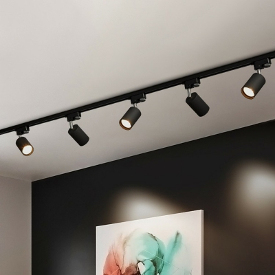 Modern Tubular Track Lighting Fixture Metal Restaurant Semi Flush Mount Ceiling Light
