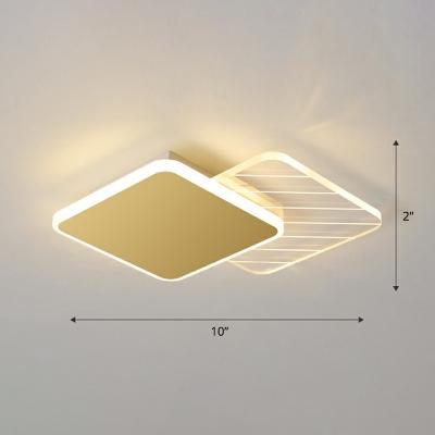 Minimalist Symmetric Ceiling Lamp Acrylic Corridor LED Flush Mount Light Fixture