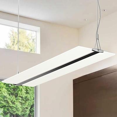 45W LED Panel Ceiling Light 90CM Black Office Chandelier Kitchen Lamp
