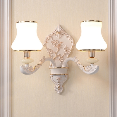 Shaded Wall Mount Lamp Vintage Style Metal Wall Lighting Fixture for Dining Room