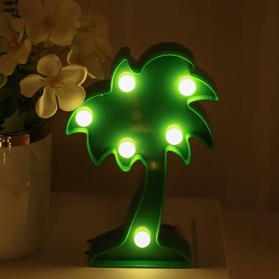 Cartoon Mini LED Night Light Plastic Bedroom Battery Festive Table Light for Decoration