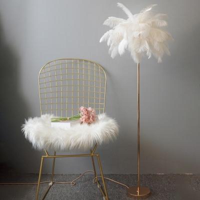 Nordic Palm Tree Shaped Floor Lamp Feather 1-Light Girls Room Standing Floor Light