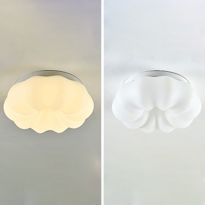 White Cloud Ceiling Light Plastic Candy Colored LED Flush Light in 3 Colors Light for Study Room