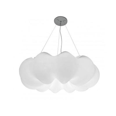 Contemporary White Hanging Light Cloud Fiber Chandelier for Restaurant in 3 Colors Light
