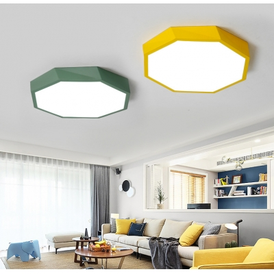 Modern Style LED Ceiling Mount Metal Octagon Flush Mount Ceiling Lights for Room