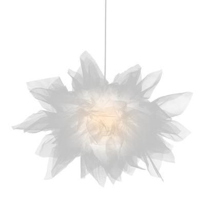 Nordic Hanging Lighting White Yarn 1 Light Restaurant Pendulum Lamp Deco in White
