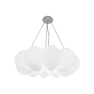Plastic White Cloud Hanging Lamp Romantic Modern Ceiling Pendant for Bedroom in 3 Colors Light