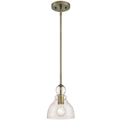 1 Head Clear Glass Pendant Lamp 7 Inchs Wide Vintage Pear Bedroom Hanging Ceiling Light