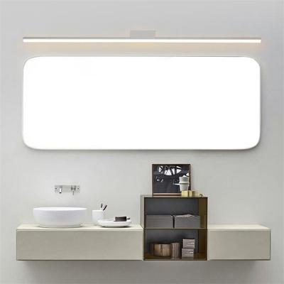 White Led Vanity Light Above Mirror, Modern Bathroom Lights Above Mirror
